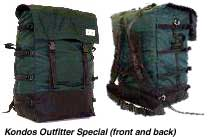 [IMAGE: Kondos Outfitter Special pack (front ad back)]