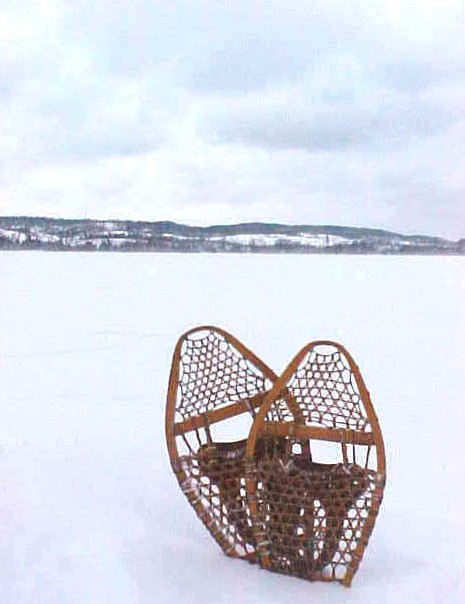 Snowshoes at Gunflint Lake, Photo by Erik W. L. Anderson